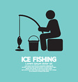 Ice Fishing Graphic Symbol vector image vector image