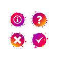 information icons question faq symbol vector image vector image