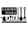 isolated gardening tools vector image