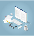 isometric online reading vector image