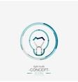 Light bulb minimal design logo vector image