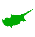 Map of Cyprus vector image vector image