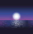 moonlight at the ocean vector image vector image