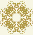 oriental abstract golden pattern vector image vector image