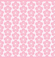 pattern flower background vector image vector image