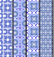 pattern geometric blue vector image vector image