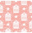 pink christmas seamless pattern vector image vector image