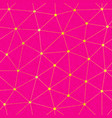 pink color triangle seamless pattern vector image vector image