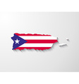 Puerto Rico map with shadow effect presentation vector image vector image
