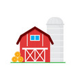 red barn wooden agricultural building horse barns vector image