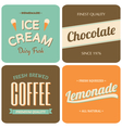 retro style packaging design for foods and drinks vector image vector image