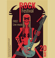rock music festival poster vector image