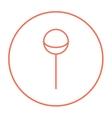Round lollipop line icon vector image