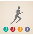 Running or jogging man icons