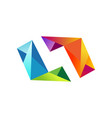 shape 3d colorful diamond logo vector image vector image