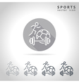 Sports outline icon vector image vector image