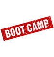 square grunge red boot camp stamp vector image