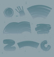 stains on glass set vector image vector image