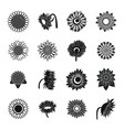 sunflower blossom icons set simple style vector image