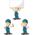 Technician or Repairman Mascot 8 vector image vector image
