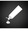 Toothpaste tube icon vector image