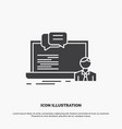 training course online computer chat icon glyph vector image vector image