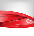 turkey background with flag element vector image vector image