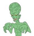 ugly alien vector image vector image