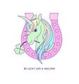 Unicorn icon character 02 vector image vector image