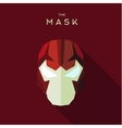 Villain in a red head mask the style of plane vector image vector image
