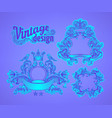 vintage design elements set ribbons in bright vector image vector image