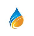 water drop ecology health logo vector image vector image