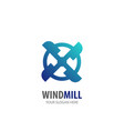 wind mill logo for business company simple wind vector image