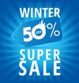 winter super sale vector image