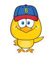 yellow chick cartoon character vector image vector image