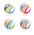 arrow and finance marketing logo concept vector image