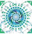 Abstract flower mandala Blue and green vector image