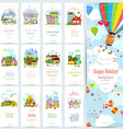 sweet set banners of cute cityscape Urban vector image