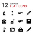 12 scale icons vector image vector image
