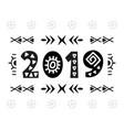 2019 greeting card scandinavian vector image vector image
