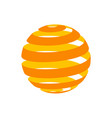 abstract circle logo design3d globe spiral vector image
