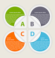 Abstract paper infographic Design elements vector image