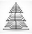 abstract technology christmas tree vector image