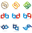 all sales ab abstract symbol vector image vector image