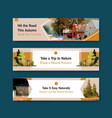 banner template with landscape in autumn design vector image vector image