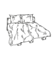 bed sketch vector image