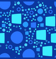 blue modern geometrical abstract background with vector image vector image