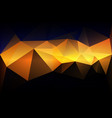 blue yellow orange black low poly background vector image vector image