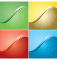 bright color backgrounds with floral texture - set vector image
