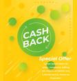 cashback offer banner design vector image vector image